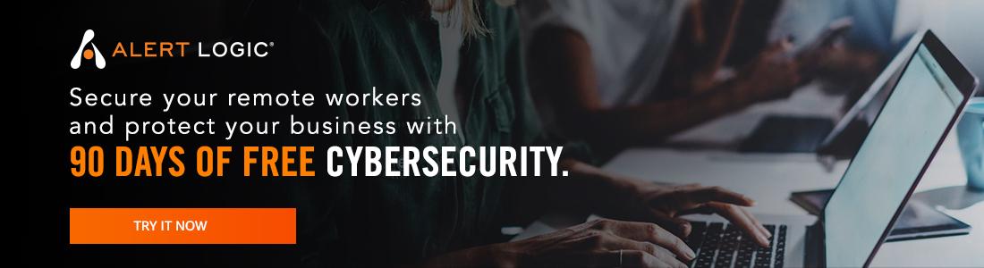 Alert Logic 90 days of free Cybersecurity
