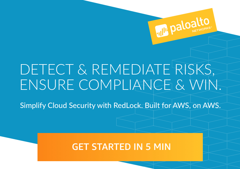 Palo Alto Networks RedLock Security Platform on AWS