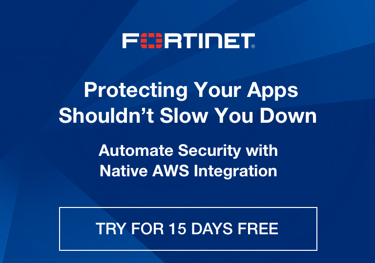 Fortinet FortiWeb Web Application Firewall WAF on AWS
