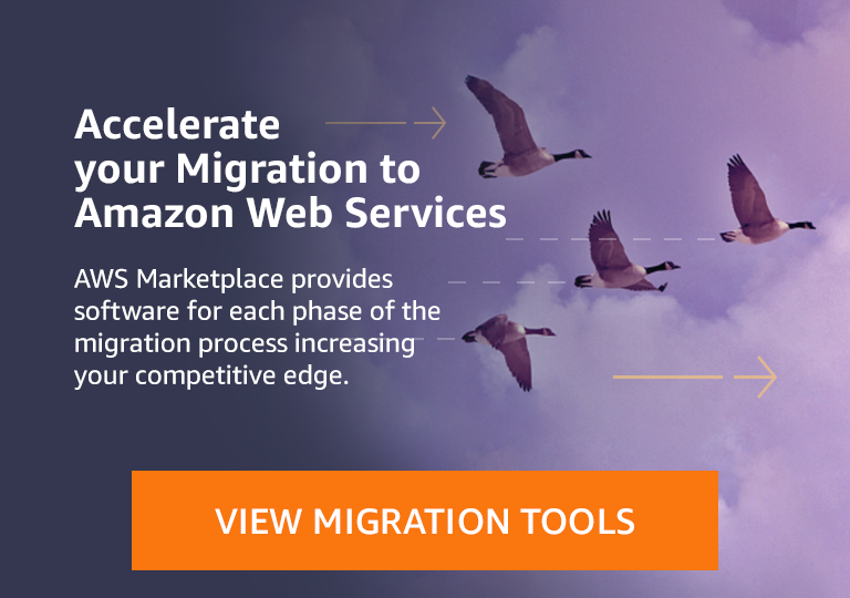 Discover Cloud Migration tools in AWS Marketplace