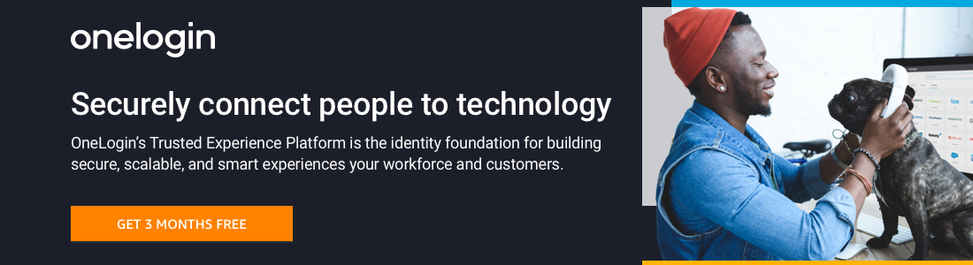 OneLogin's Trusted Experience Platform is the identity foundation for building secure, scalable, and smart experiences that connect people to technology.