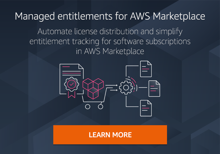 Entitlement Distributor helps you automate third-party software license distribution and simplify entitlement tracking for software purchased in AWS Marketplace.