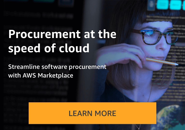 Find, buy, and deploy software solutions in AWS Marketplace.