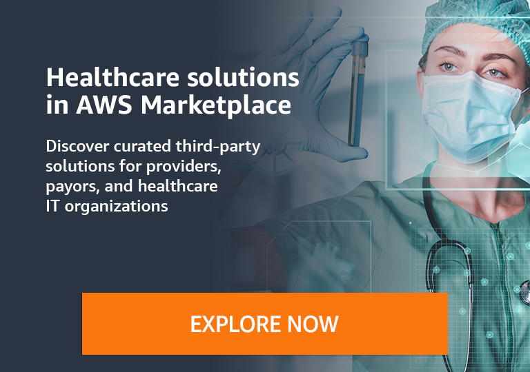 Discover curated third-party healthcare solutions for providers, payors, and healthcare IT organizations in AWS Marketplace