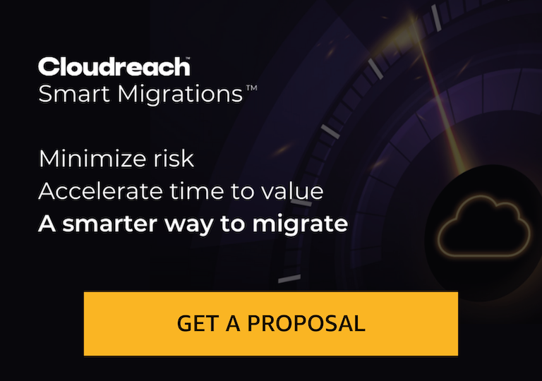 Cloudreach Smart Migration Proposal delivers a free high-level migration proposal in under 24 hours to help you kick start, simplify, and expedite your migration to AWS.
